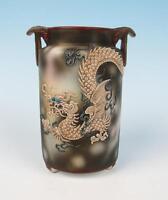Antique Nippon Early Noritake Dragonware Vase Japan Moriage Dragon w/ Blue Eyes