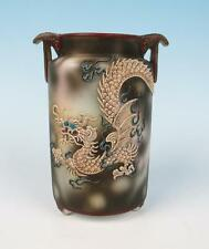 Antique Nippon Early Noritake Dragonware Vase Japan Moriage Dragon w/ Blue Eyes