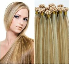 """Pre-Bond U-Tip Hot Fusion 22"""" European Remy Hair Extensions 100 Strand Any Color"""