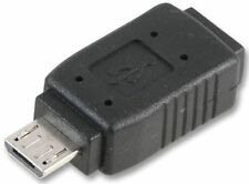 USB 2.0 MICRO TYPE B MALE TO USB MICRO TYPE AB FEMALE ADAPTER CONVERTER, HK-MUS2
