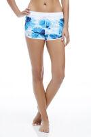 Fabletics suva Shorts blue white floral Size M L run gym workout shorts