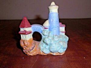 Vintage Aquarium Fish Bowl Decoration Castle Tower Swim Through Japan