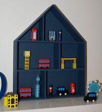 Large Wooden House Shelf Storage Decorative Children's Bedroom Decoupage