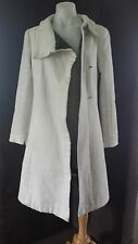 ladies 1960s vintage over coat off white double breasted wrap around 8 10 XS S