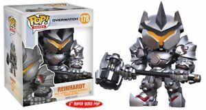 "Overwatch Video Game Reinhardt Super-Sized POP 6"" Figure #178 FUNKO NEW NIB"