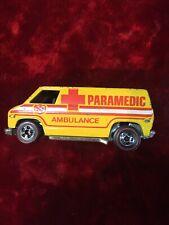 Vintage Redline Hot Wheels 1974 Yellow Paramedic Ambulance Van Hong Kong Rare