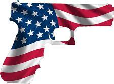 American Flag Gun Sticker