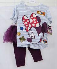 Disney Minnie Mouse Girls Clothing Lot Size 12M Shirts and Tutu Skirted Leggings