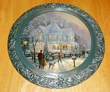 Collector Plate Thomas Kinkade 25th Annv Master Pewter A Holiday Gathering Coa