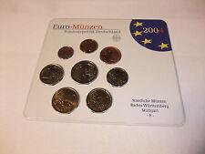 Euro Münzen Kursmünzensatz KMS Deutschland Stuttgart F Stempelglanz stgl. 2004