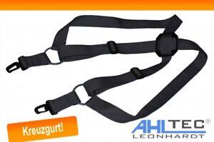 Kreuzgurt schwarz - AHLtec - verstellbarer komfort Sendergurt für Senderpulte