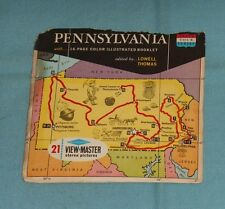vintage PENNSYLVANIA (STATE TOUR SERIES) VIEW-MASTER REELS packet with booklet