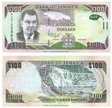 Jamaica 100 Dollars 2014 (2015) P-95 Polymer Hybrid Banknotes  UNC
