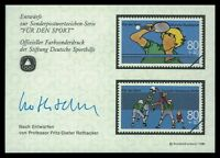 BRD SPORTHILFE 1989 ENTWÜRFE TISCHTENNIS VOLLEYBALL TABLE TENNIS PROOFS by25
