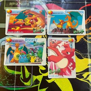 Pokemon carddass anime collection 88 107 31 108 Bandai charizard