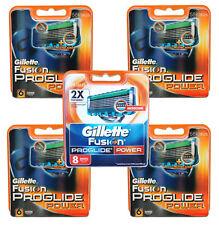 32 Gillette Fusion proglide Power cuchillas de afeitar 32 piezas/4x 6 + 8 gillete OVP
