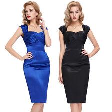VINTAGE 1940's 50's Bodycorn 1950's Pencil Wiggle Dress UK Size 4-18