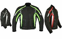 Motorcycle Motorbike Sporty Jacket Textile Waterproof  CE Armoured Black Unisex