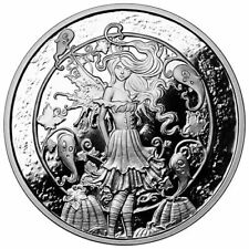 1 oz 999 Fine Silver Proof Coin - Amy Brown - Haunted Halloween Pumpkin Patch