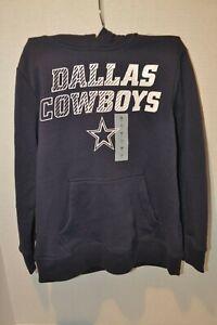 Dallas Cowboys Youth Boys Pullover Hoodie Sweatshirt Navy NWT Pre-Wash Look NWT