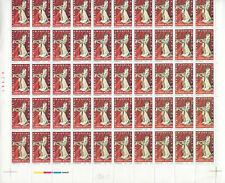 MEX 1974 WORLD SILVER FAIR COMPLETE SHEET OF 50 STAMPS CV$15 (A01)