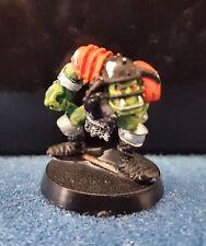 Warhammer Gamesworkshop BloodBowl 2nd edición Orco Blitzer Metal fuera bien pintados