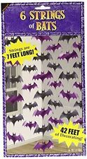 42 Foot Halloween Bat String Decorations 6 Strings All 7ft Long Party Dec