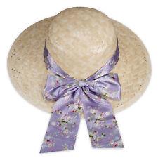 Straw Hat Sunhat Summer Beach Women's Sun Protection BEIGE HATBAND Multicolour