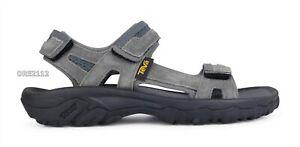 Teva Hudson Dark Gull Grey Suede Sport Sandals Mens Size 12 *NEW*