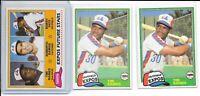 (3) 1981 Topps Traded Tim Raines RC LOT HOF CLEAN Expos Yankees