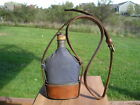 French cavalry mounted military canteen with cap, cup and shoulder strap WWI era