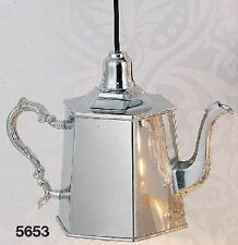 Hoff Interieur 5653 Hanging Lamp Coffee Pot 25 x 12,5 18 cm Silver Plated Brass