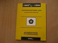 Werkstatthandbuch Antriebsstrang Systemdiagnose Jeep Grand Cherokee 1993 - 1994