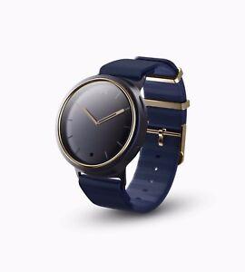 Misfit Unisex Aluminum Steel Case Blue Silicone Strap Watch MIS5006