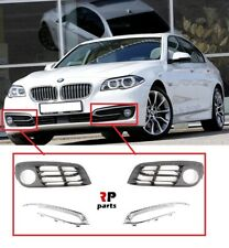 408283e20591 FOR BMW 5 F10 F11 2014-2016 NEW FRONT FOGLIGHT GRILLE WITH CHROME TRIM PAIR