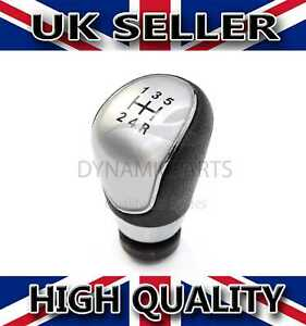 BLACK LEATHER ALUMINIUM GEAR LEVER KNOB FOR FORD FIESTA FOCUS MONDEO CONNECT