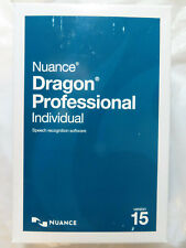 NUANCE DRAGON 15 PROFESSIONAL INDIVIDUAL SPEECH RECOGNITION SOFTWARE BRAND NEW
