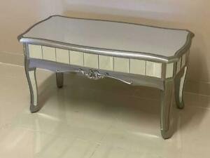 Argente Mirrored Coffee Table French Style Mirrored Coffee Table Living Room