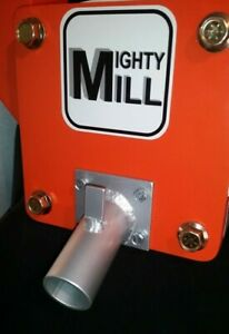 Screened discharge tube attachment for th MIGHTY MILL portable mini rock crusher