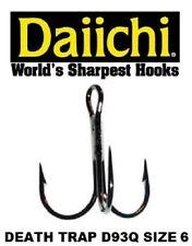 Daiichi Replacement Treble Hooks D93Q Light Wire Death Trap Black Nickel Size 6