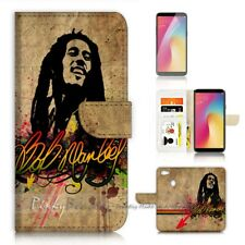 ( For Oppo A73 ) Flip Wallet Case Cover P21515 Bob Marley