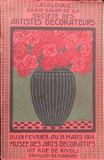 SCHIEMDT FR L CATALOGUE DU 9EME SALON  SOCIETE DES ARTISTES DECORATEURS 1914