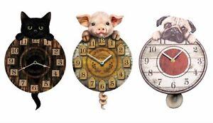 Animal Tail Wagging Tickin' Pendulum Wall Clock