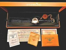 Men's Stuhrling Original Watch Skeleton Leather Strap Water Resistant Automatic
