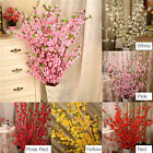 50Artificial Cherry Spring Plum Peach Blossom Branch Silk Flower Tree Home Decor