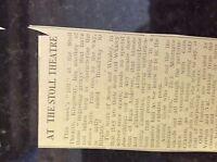 M3-9a ephemera 1941 dagenham ww2 article stoll theatre billy snaith