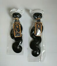 """Lena Queen Human Hair Extension Set 14"""" & 16"""" Remy Body Wave in Black"""