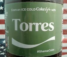Share A Coke Life With Torres 2017 Limited Edition Green Label Coca Cola Bottle