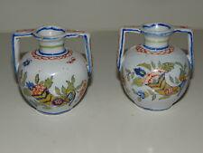 2 minis vases Amphore Corne Abondance faience de Desvres Fourmaintraux Frères