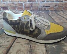 Pantofola d'Oro Multi Color Textile & Leather camo Print Euro Track Sneaker 39